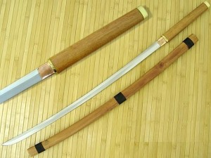 A shirasaya. Image from www.swordsoftheeast.com.