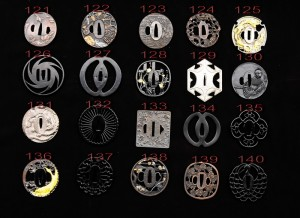 Just a few options for tsuba designs. Image from www.ryansword.com.